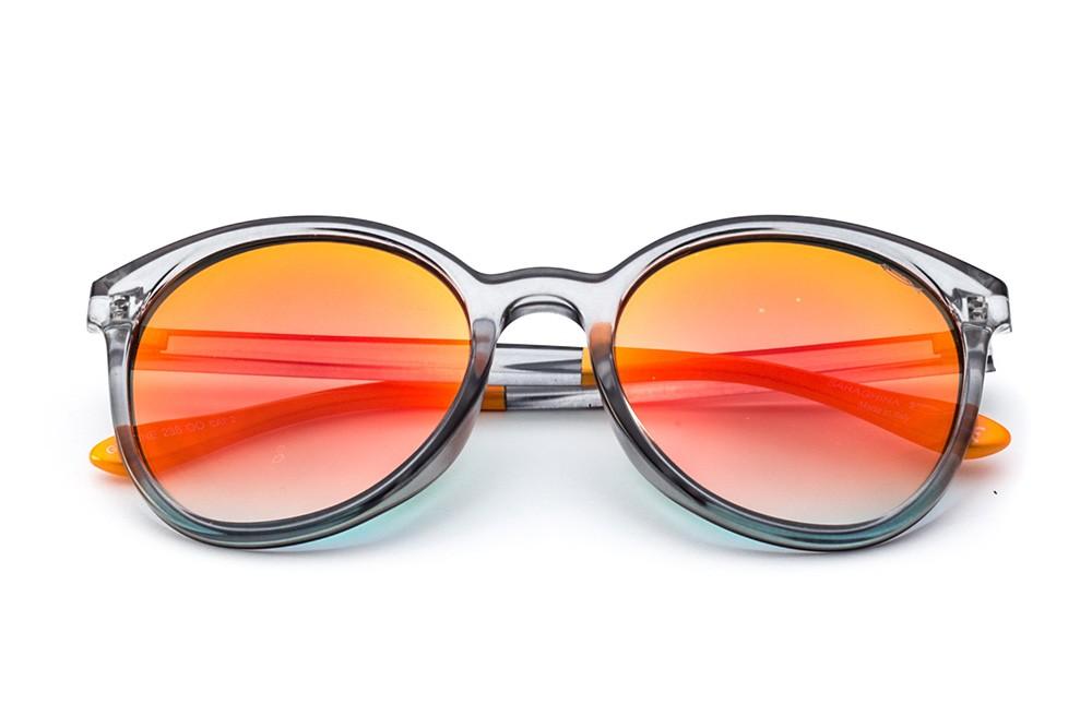 Grey - Red/Orange Flashed Lens