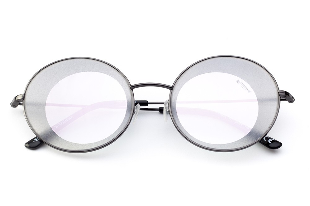 Black - Pink Mirrored Lens