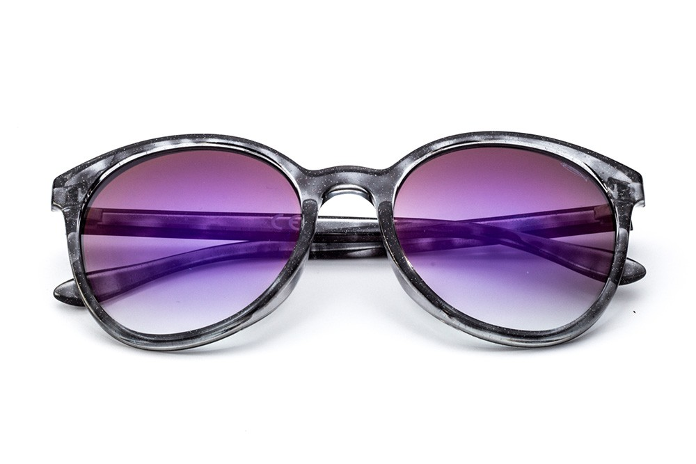 Grey Tortoise Shell - Flashed Violet Lens