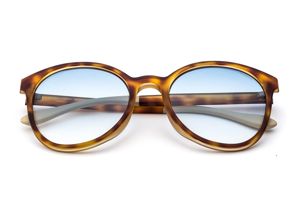 Tortoise Shell - Light Blue Flashed Lens