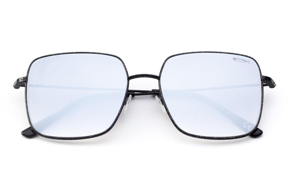 Glitter Black - Silver Flashed Lens