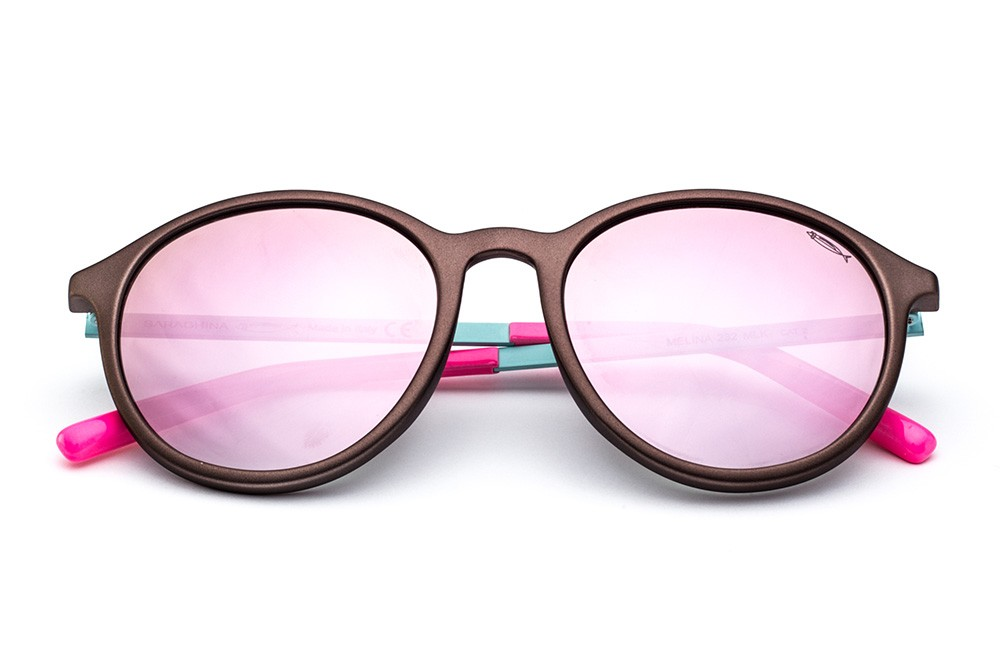 Metallic Brown - Mirrored Pink Lens