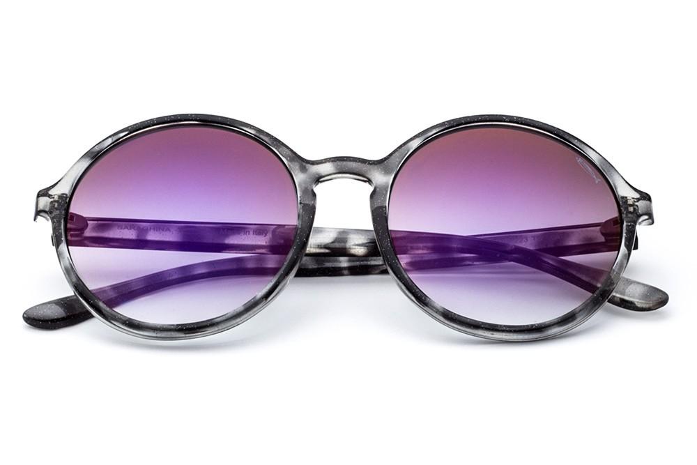 Grey Tortoise Shell - Violet Flashed Lens