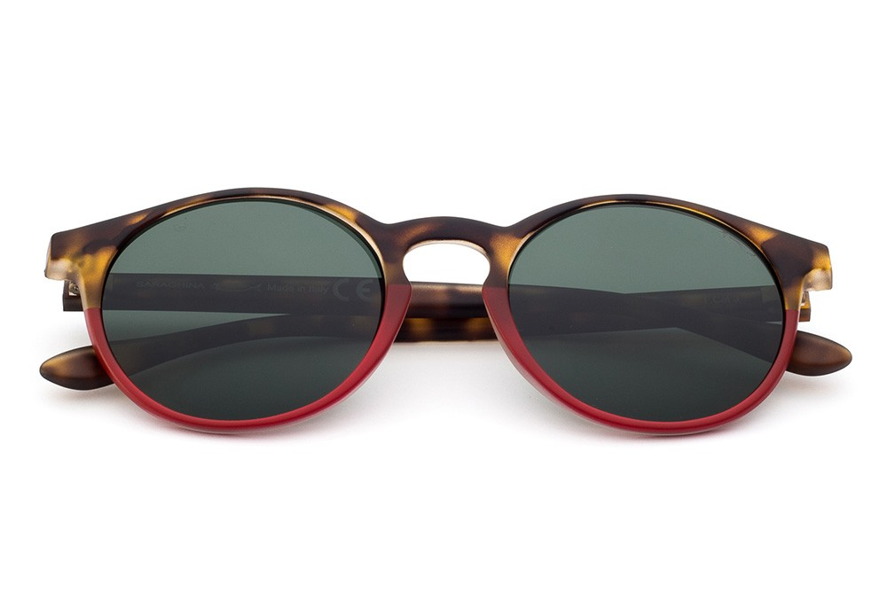 Tortoise Shell/Red - Green Lens