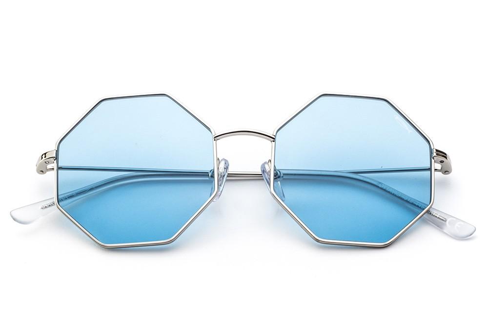 Silver - Light Blue Lens