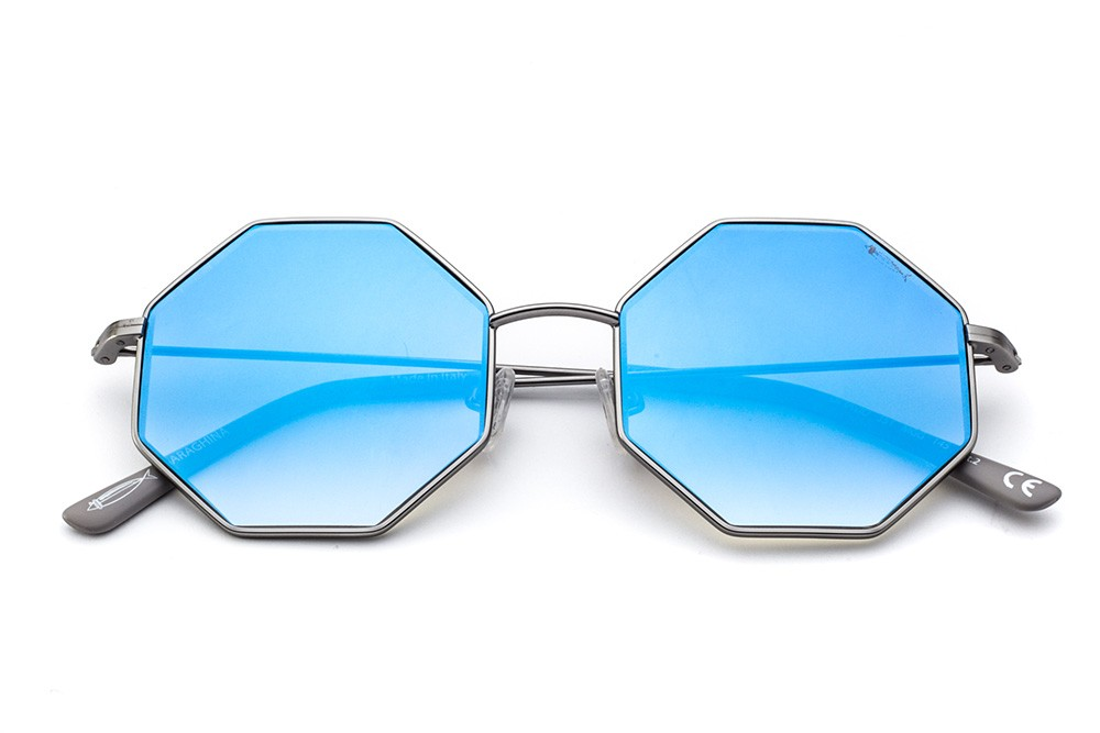 Gunmetal - Blue Flashed Lens