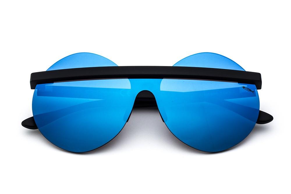 Black - Blue Mirrored Mask