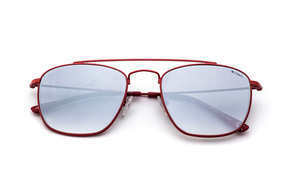 Red - Silver Flashed Lens