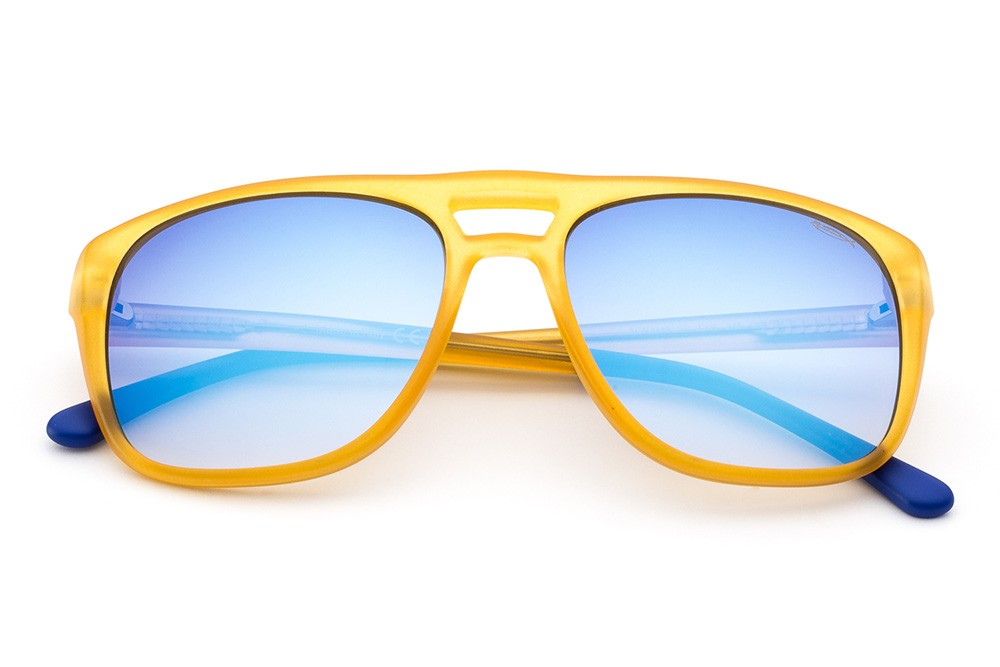Yellow - Flashed Blue Lens