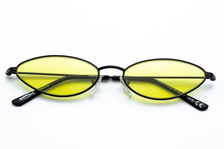 Glossy Black - Yellow Cosmetic Lens