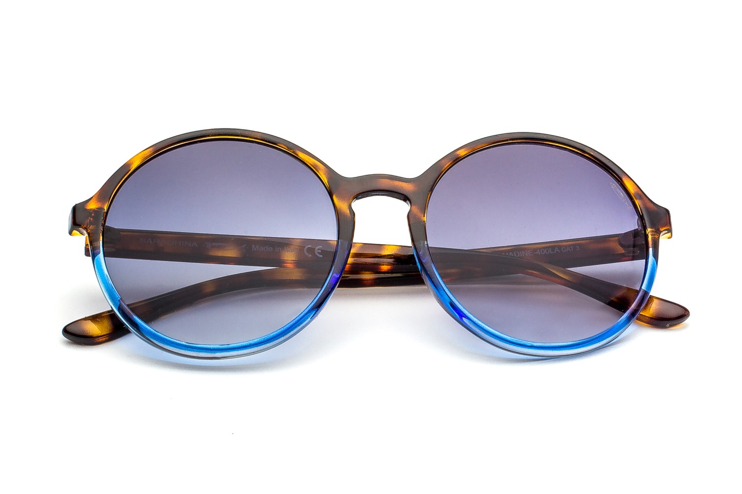 Havana/Blue-Gray Shaded Lenses