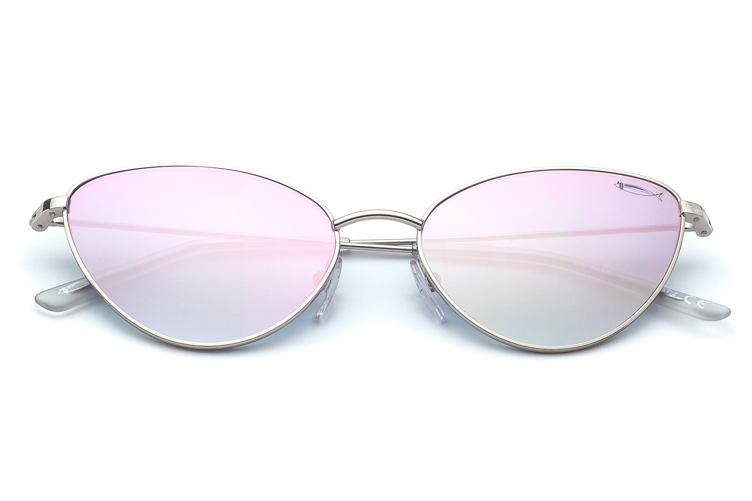 Silver - Pink Flashed Lenses