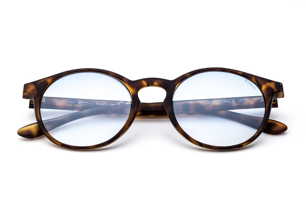 Tortoise Shell - Shaded Light Blue Lens