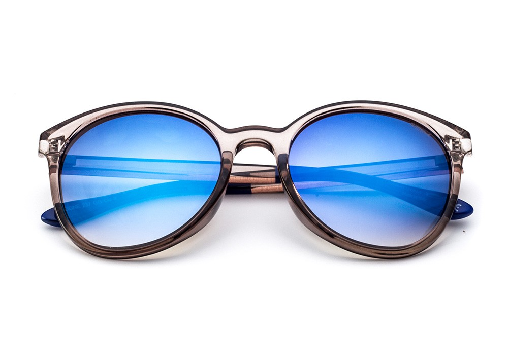 Mauve - Blue Flashed Lens