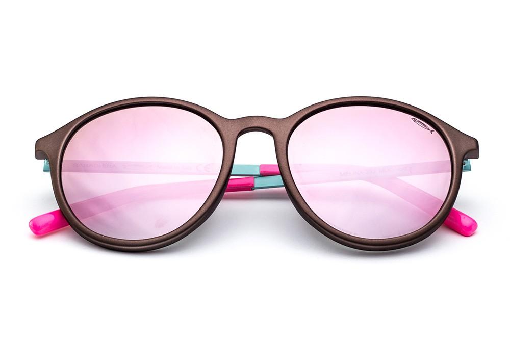 Metallic Brown - Mirrored Pink Lens