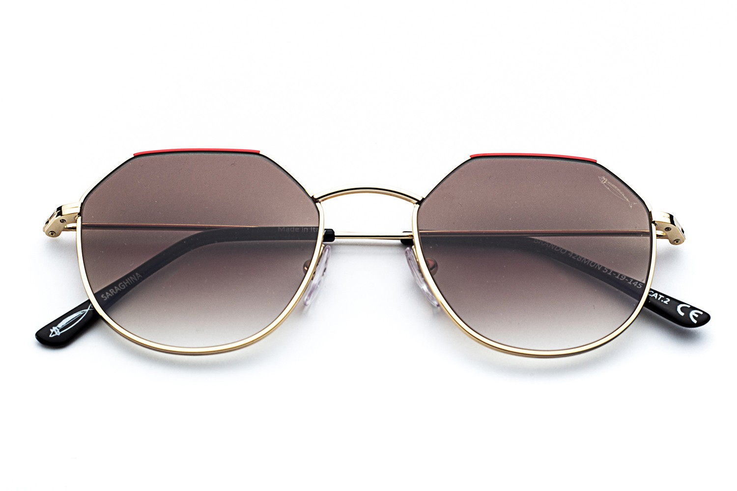Shiny Gold - Shaded Brown Lenses